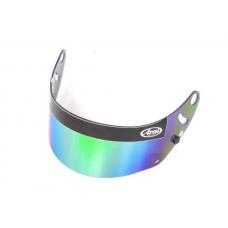 Visor for ARAI GP-6 helmet, green mirrored