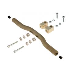 Adjustable AL footrest completewith support